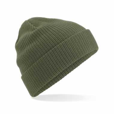 Commando beanie organic wintermuts olijf groen kopen
