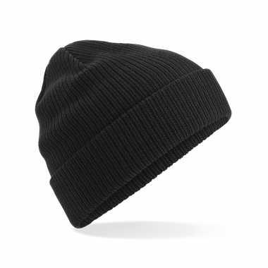 Commando beanie organic wintermuts zwart kopen