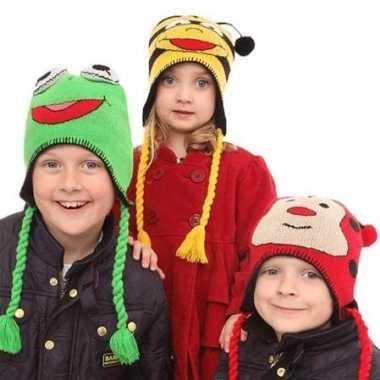 Kikker sherpa muts kinderen kopen