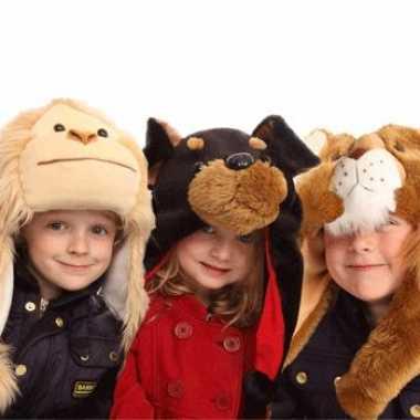 Kinder nep-bont muts apenkop kopen