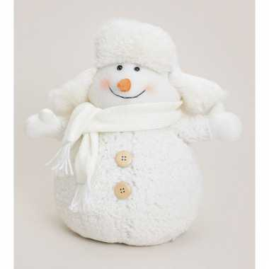 Muts kerstdecoratie sneeuwpop kopen 10063257