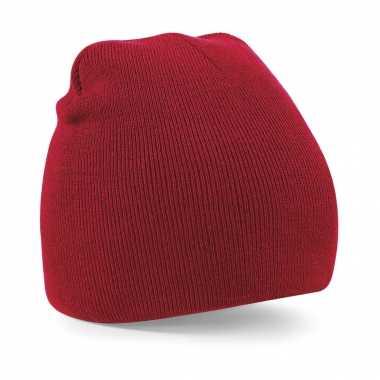 Pull on beanie wintermuts rood kopen