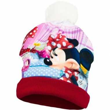 Rode minnie mouse skimuts meisjes kopen