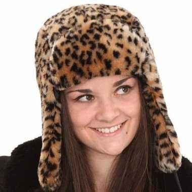 Russische bontmuts tijgerprint kopen