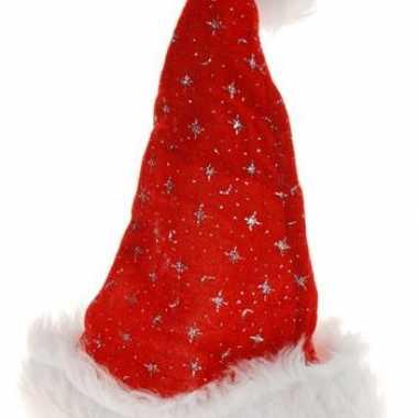 Sterren kerstmuts bontrandje kopen