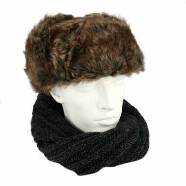 Warme russische bontmuts kopen