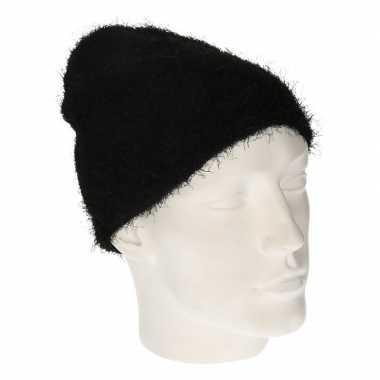 Winter muts wol zwart dames kopen