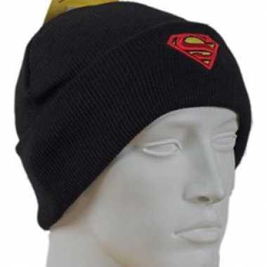 Wollen superman muts zwart kopen