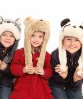 Kinder nep bont muts beer kopen