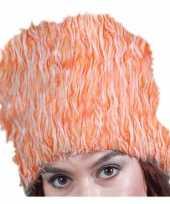 Oranje bontmuts pluche kopen